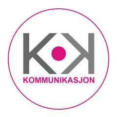 KK Kommunikasjon's logo.